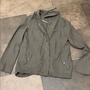 Anthropologie parka jacket coat khaki M